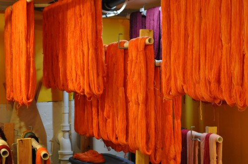 Yarn drying