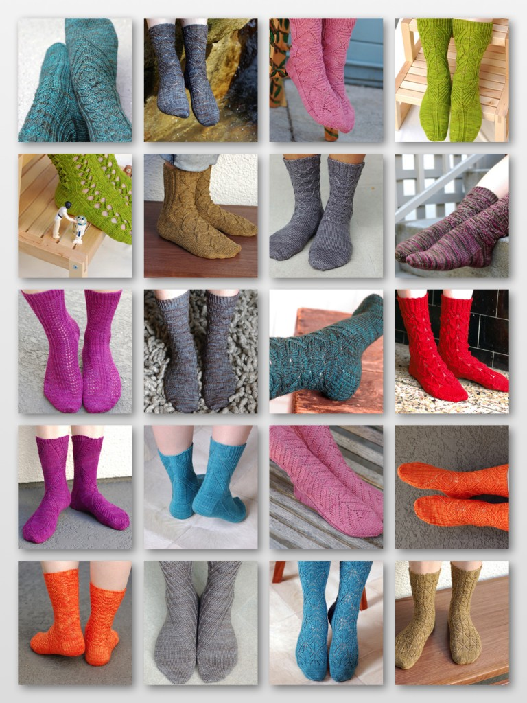 You can see all of this year's patterns and yarns to date here and catch up  on what current sock club members are up to in the Ravelry group. - Sock Club « Cookie A